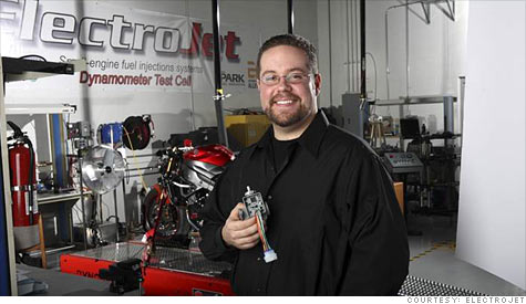 Cleaning up Fuel Emissions: From Detroit, a fix for smog-belching motorcycles